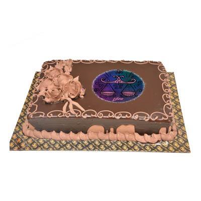 Libra Chocolate Rectangular Cake