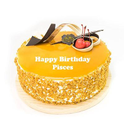 Pisces Butterscotch Birthday Cake