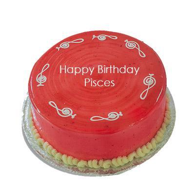 Pisces Strawberry Cake