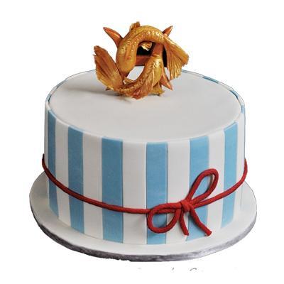 Vanilla Pisces Fondant Cake