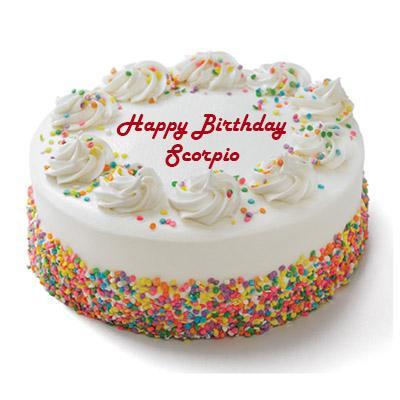 Scorpio Vanilla Cake