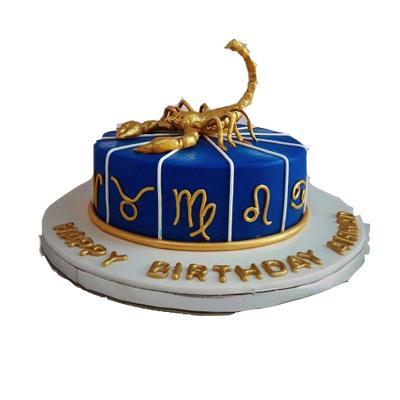 Scorpio Theme Cake