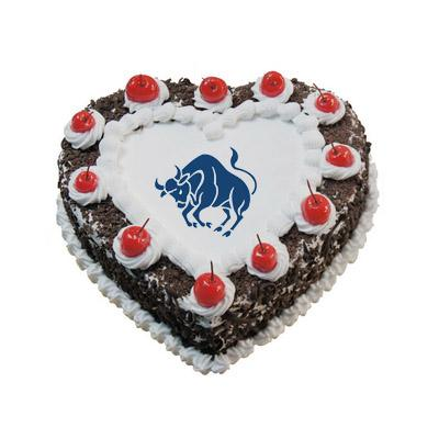 Taurus Black Forest Heart Shape Cake