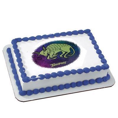 Pineapple Taurus Zodiac Sign Cake