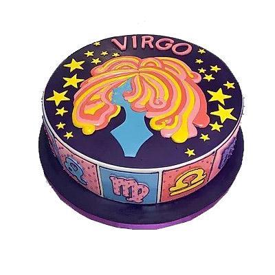 Special Virgo Fondant Cake