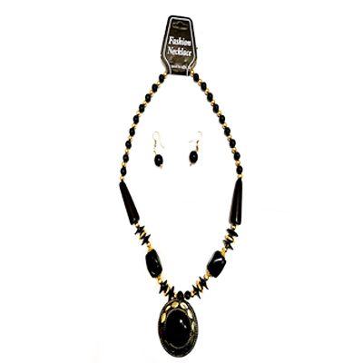 Black Big Pearl Necklace