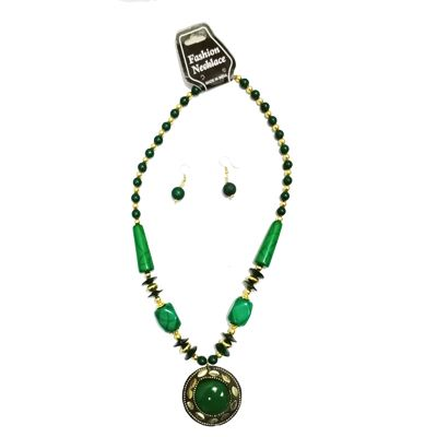 Green Big Pearl Necklace