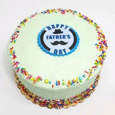 Delicious Fathers Day Vanilla Cake