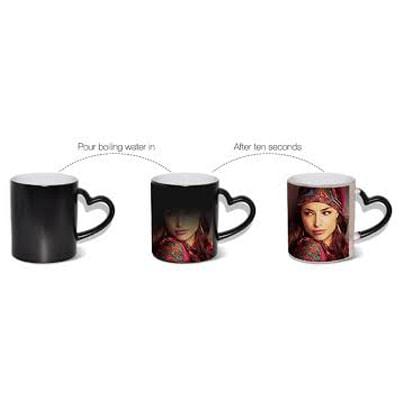 Heart Shape Handle Magic Mug