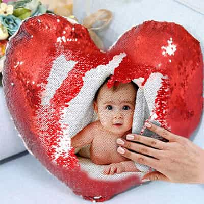 Red Heart Shape Magic Cushion