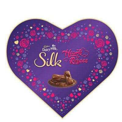 Cadbury Dairy Milk Silk Valentines Heart Shaped Gift Box