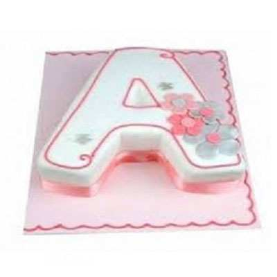 A Shape Strawberry Cake