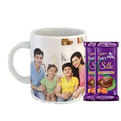 Photo Mug with Dairy Milk Silk Roasted Almonds