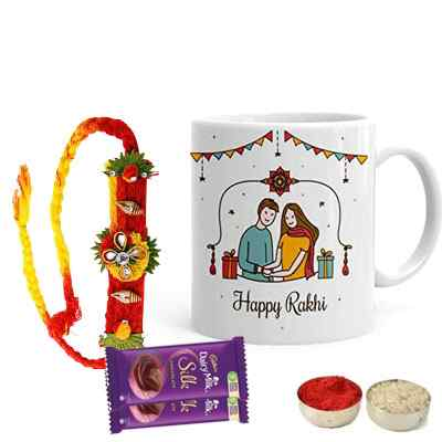 Mauli Rakhi with Mug & Silk