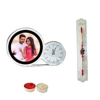 Rakhi & Magic Mirror with Clock