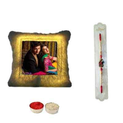 Rakhi & LED Cushion