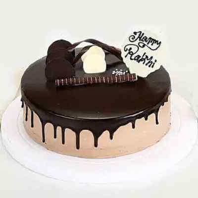 Choco Vanilla Rakhi Cake