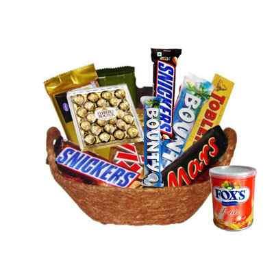 Imported Chocolates Basket